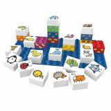 Set educational animale, 27 cuburi, 1 placa