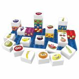 Set educational fructe, 27 cuburi, 1 placa