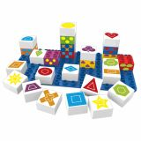Set educational forme, 27 cuburi, 1 placa