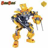 Set constructie Robot galben cu led, Banbao