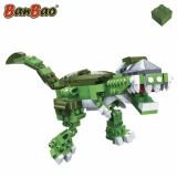 Set constructie Dinozaur biped, verde, Banbao
