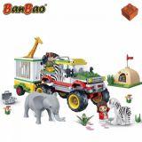Set constructie Safari, masina de teren cu remorca, Banbao