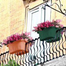 Jardieniera dubla pentru balustrada, Klunia