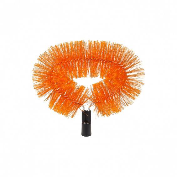 Perie plafon, rasucita, negru si portocaliu