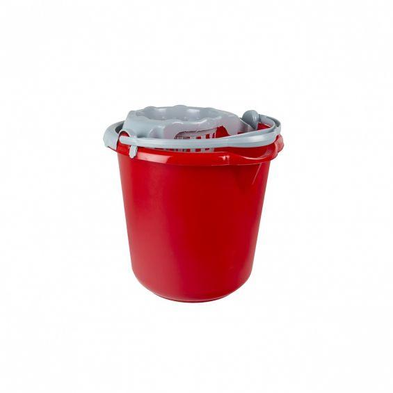 Galeata rotunda, 10 litri, cu storcator si maner plastic