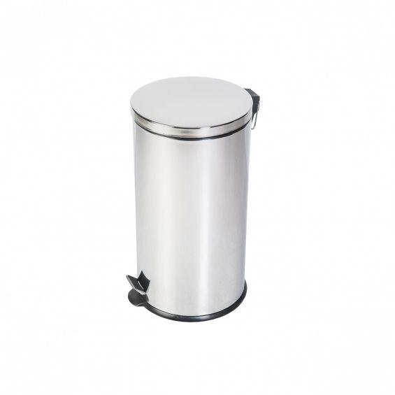 Cos cu pedala, inox, 40 litri