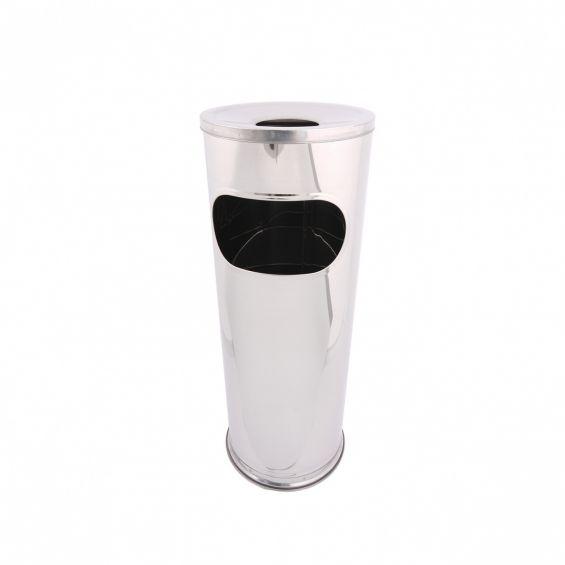Cos cu scrumiera, inox, diametru 14,5 cm