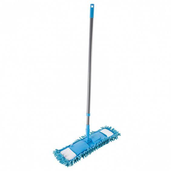 Mop Chenille, coada metalica, albastru