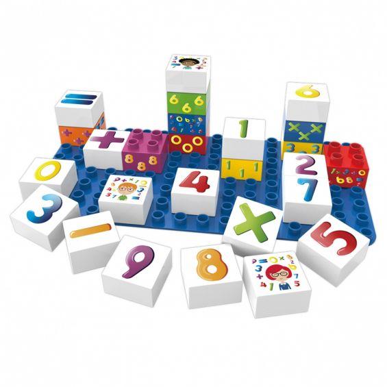 Set educational cifre, 27 cuburi, 1 placa