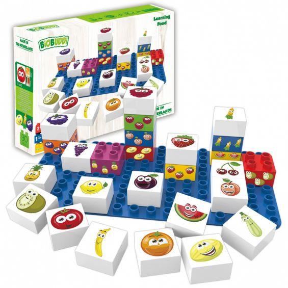 Set educational fructe, 27 cuburi, 1 placa