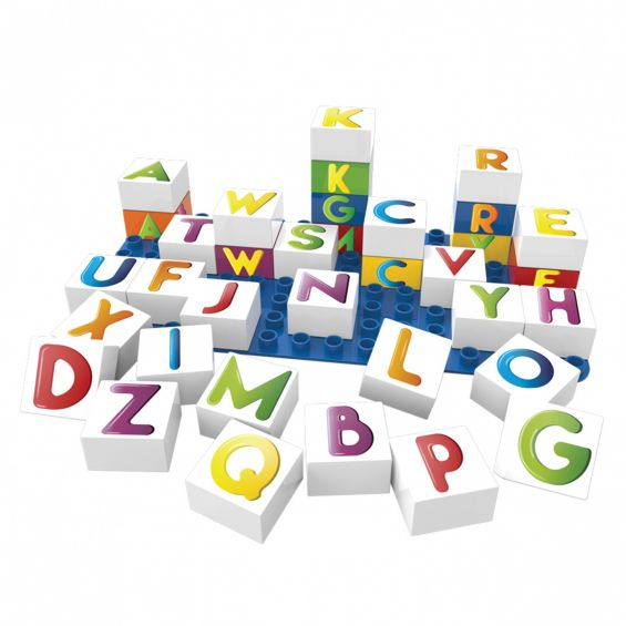 Set educational litere, 36 cuburi, 1 placa