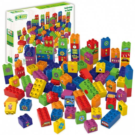 Set educational, 100 cuburi