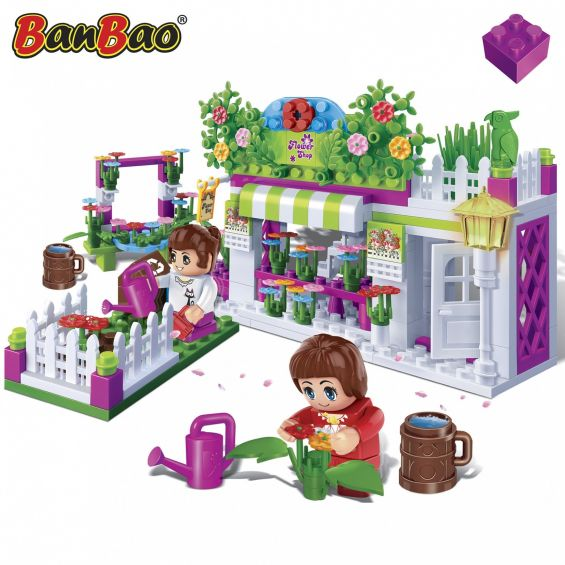 Set constructie Trendy City, florarie, Banbao