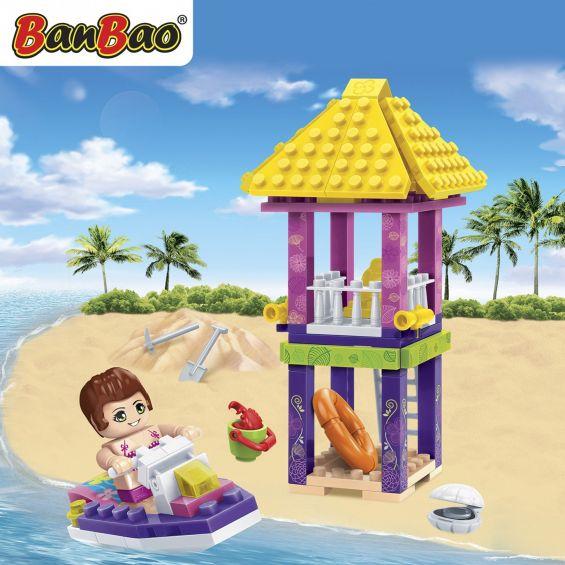 Set constructie Trendy Beach foisor salvamar si jet ski, Banbao