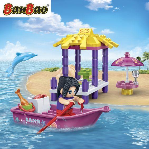 Set constructie Trendy Beach barca, ponton si bar, Banbao