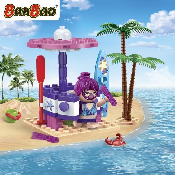Set constructie Trendy Beach cabina de schimb, Banbao