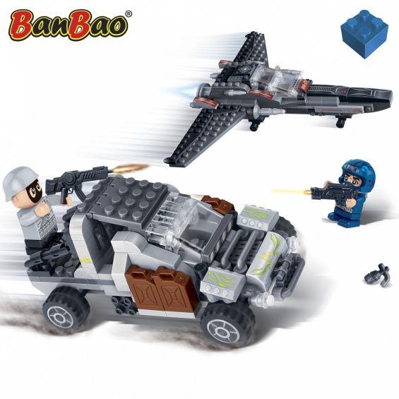 Set constructie Trupe speciale, masina si avion, Banbao