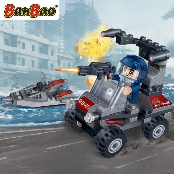 Set constructie Trupele speciale, Jeep blindat, Banbao