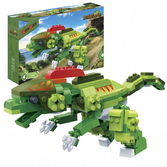 Set constructie Dinozaur biped, cu creasta, Banbao