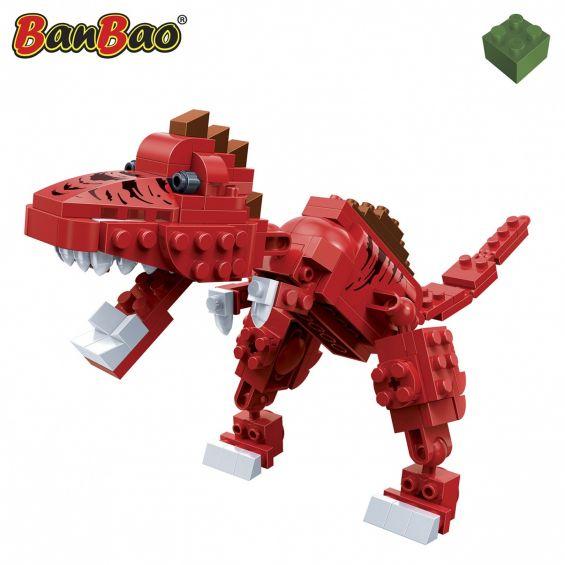 Set constructie Dinozaur biped, rosu, Banbao