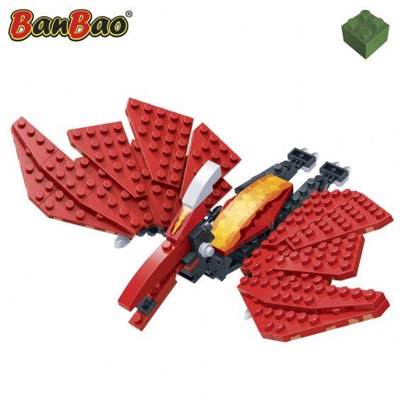Set constructie Dinozaur zburator, rosu, Banbao