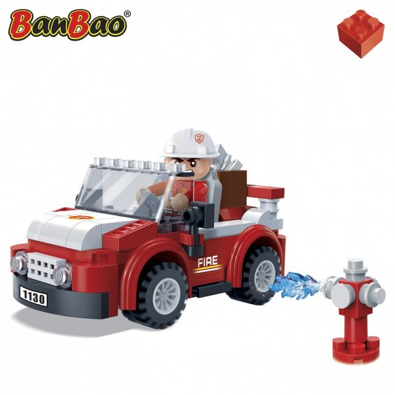 Set constructie Jeep mic pompieri, Banbao