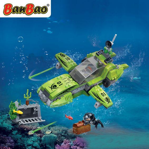 Set constructie Duncans's Treasure submarin pirat, Banbao