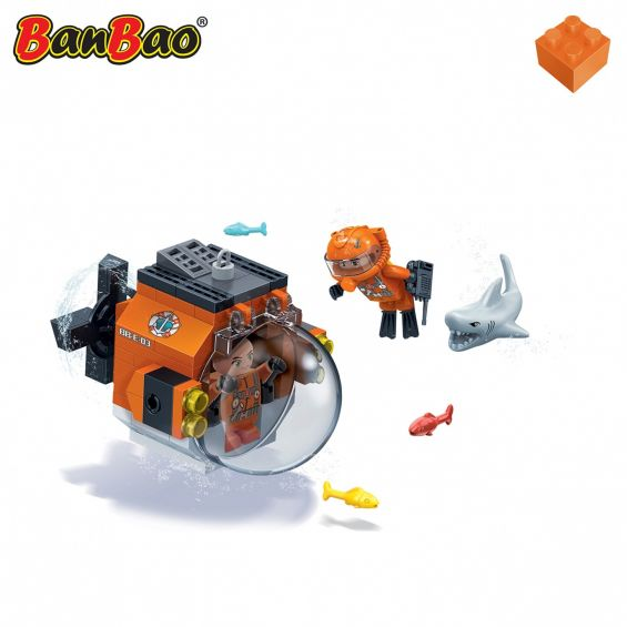 Set constructie Duncans's Treasure mini submarin, Banbao