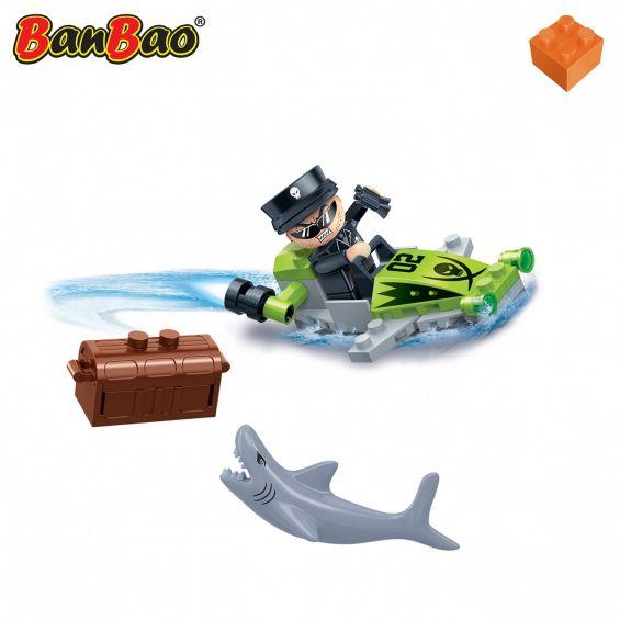 Set constructie Duncans's Treasure jet ski pirat, Banbao