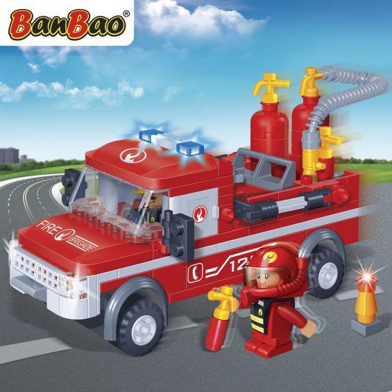 Set constructie Camion pompieri, Banbao