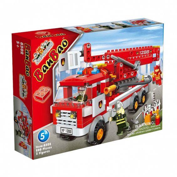 Set constructie Masina pompieri cu brat, Banbao