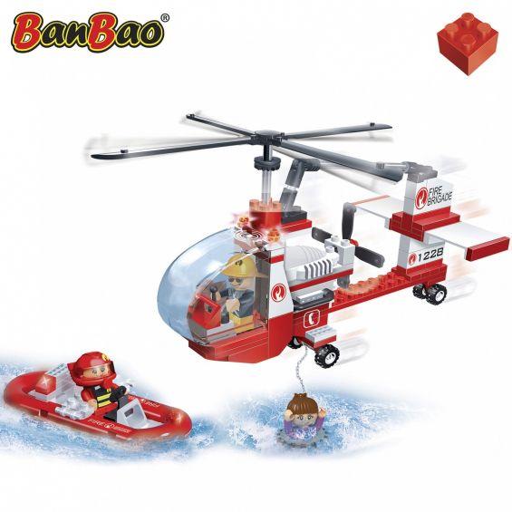 Set constructie Elicopter pompieri, Banbao