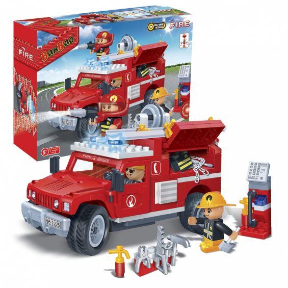 Set constructie Jeep pompieri, Banbao