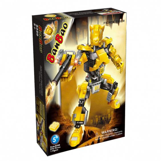 Set constructie Robot Fierce Tiger, Banbao
