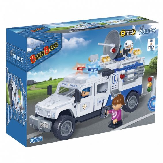 Set constructie Camion politie, Banbao