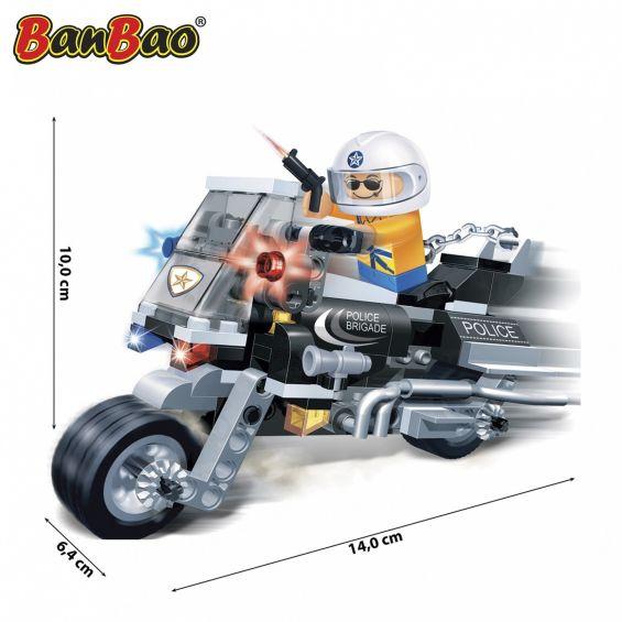 Set constructie Motocicleta politie, Banbao