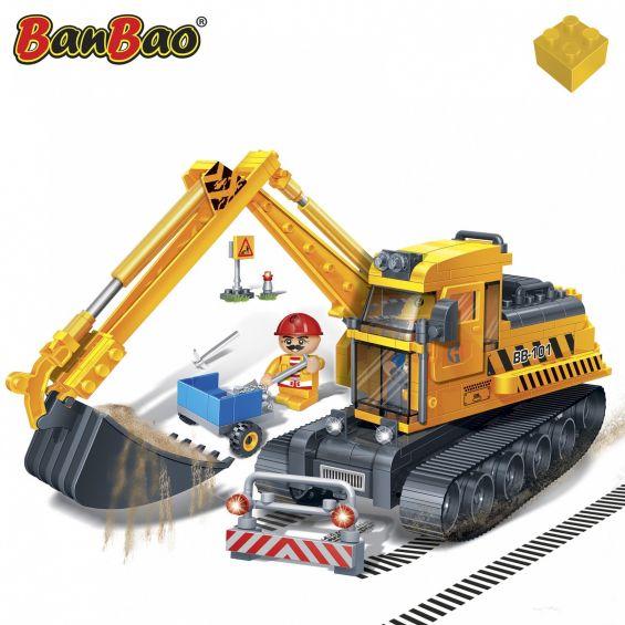 Set constructie Excavator mare, Banbao