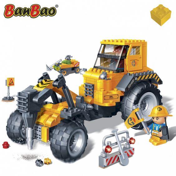 Set constructie Masina constructie drumuri, Banbao
