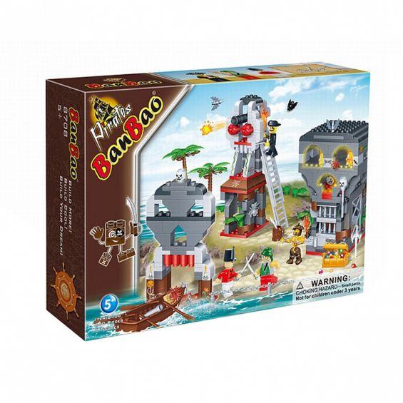 Set constructie Asediu pirati, Banbao