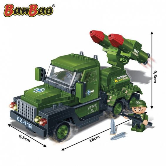 Set constructie Camion cu lansator, Banbao