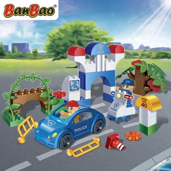 Set constructie Politie young, Banbao