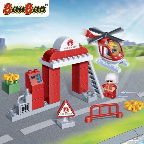 Set constructie Interventie pompieri young, Banbao
