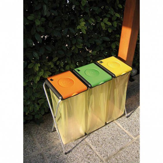 Suport sac menajer, Nature 3, galben, portocaliu si verde