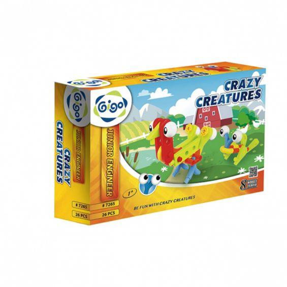 Set constructie Crazy creatures, Gigo