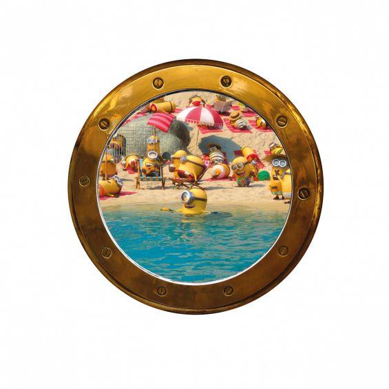 Sticker pentru perete, Hublou vapor