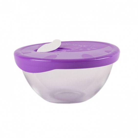 Bol cu capac de plastic, 1 litru, Sempre