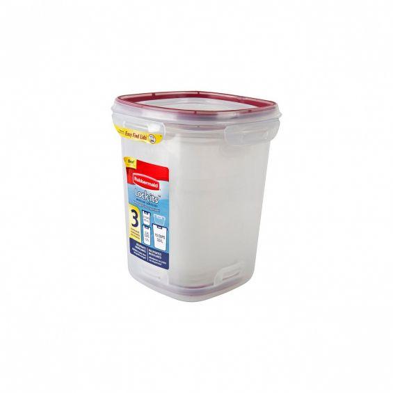 Set 3 cutii alimente, patrate, 875 ml+1,2 litri+3,5 litri, Lock Its