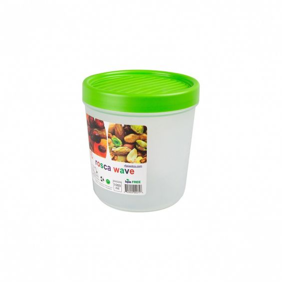 Cutie alimente gradata, rotunda, 1 litru, Rosca Wave