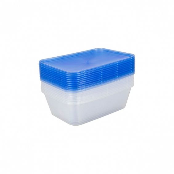 Set 10 cutii alimente, rectangulare, 750 ml, Reusable