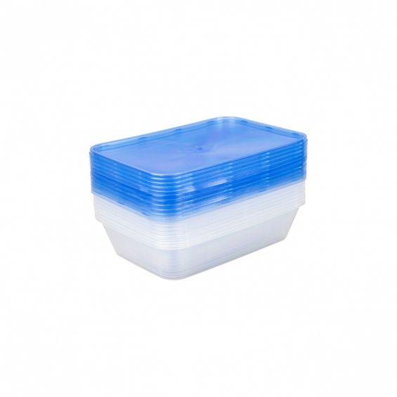 Set 10 cutii alimente, rectangulare, 500 ml, Reusable